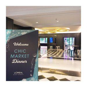 Dîner «Chic Market» au #pavillonroyal pour L'Oréal et sa division «active cosmetics»