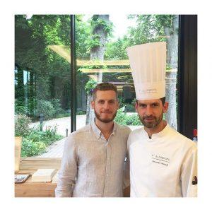 @yanncouvreur avec notre Chef Alexandre Perrault au #pavillonroyal
