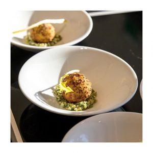 Boule de truffe au quinoa rouge, gribiche et barbe de capucins par le chef @philippe.joannes pour le #pavillonroyal . . . .  #boisdeboulogne #paris16 #paris #evenement #gastronomie #meilleurouvrierdefrance #mof #truffe #quinoa #gribiche #capucin #platsignature #menusignature #lieudereception